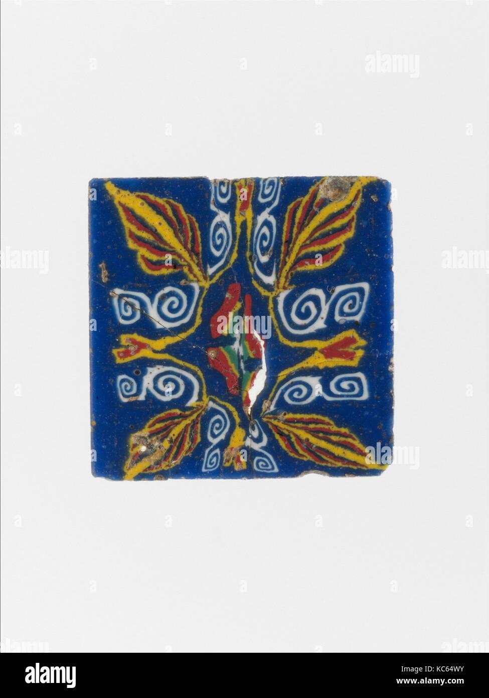 Glass mosaic inlay, 1st century B.C.–1st century A.D Stock Photo