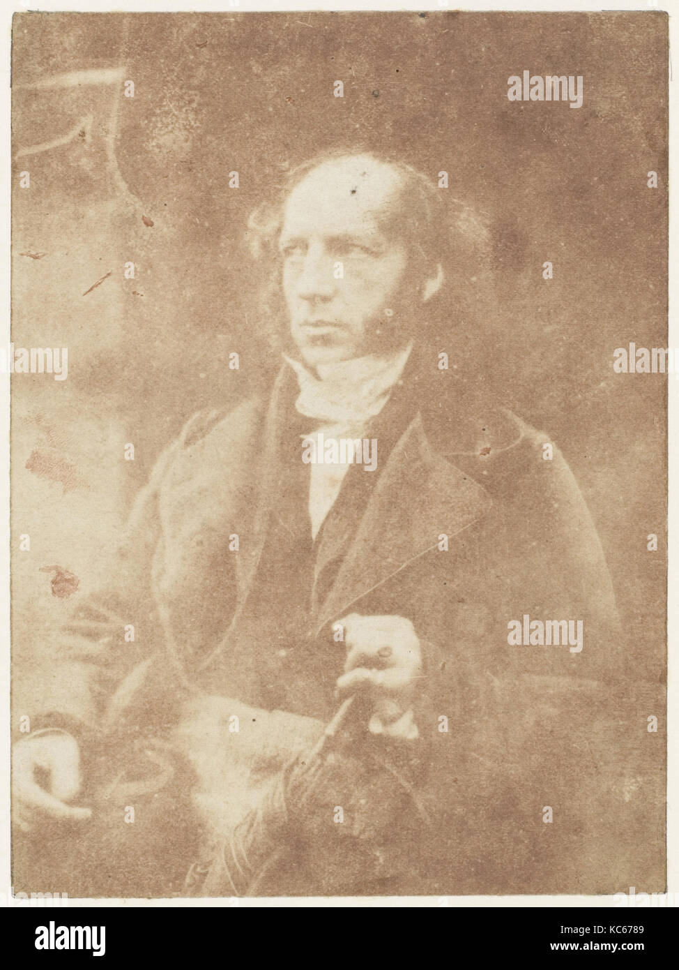 Campbell of Monzie, 1843–47, Salted paper print from paper negative, Photographs, David Octavius Hill (British, - Stock Image