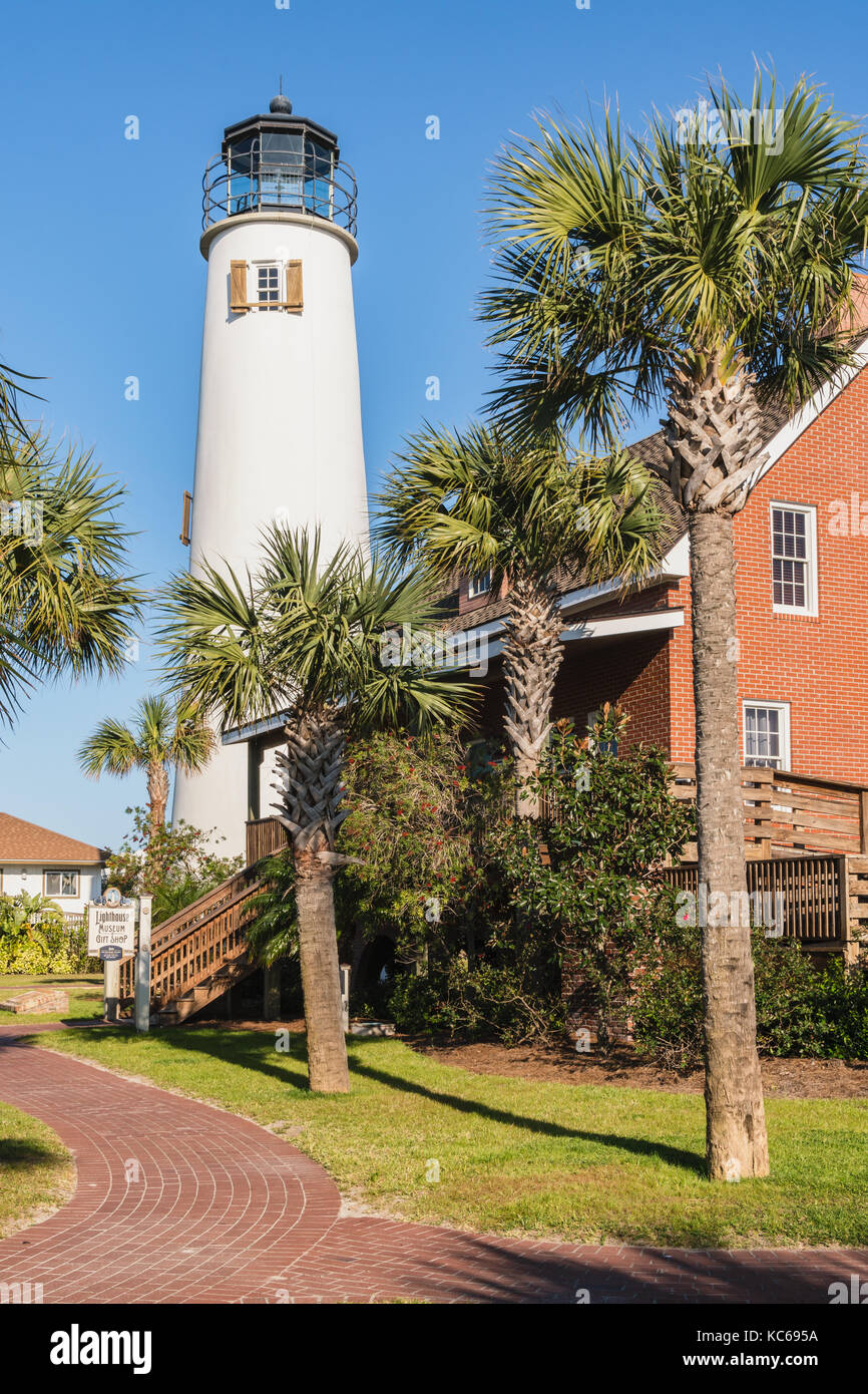 Cape St. George Lighthouse, Cape St. George Island, Florida - Stock Image