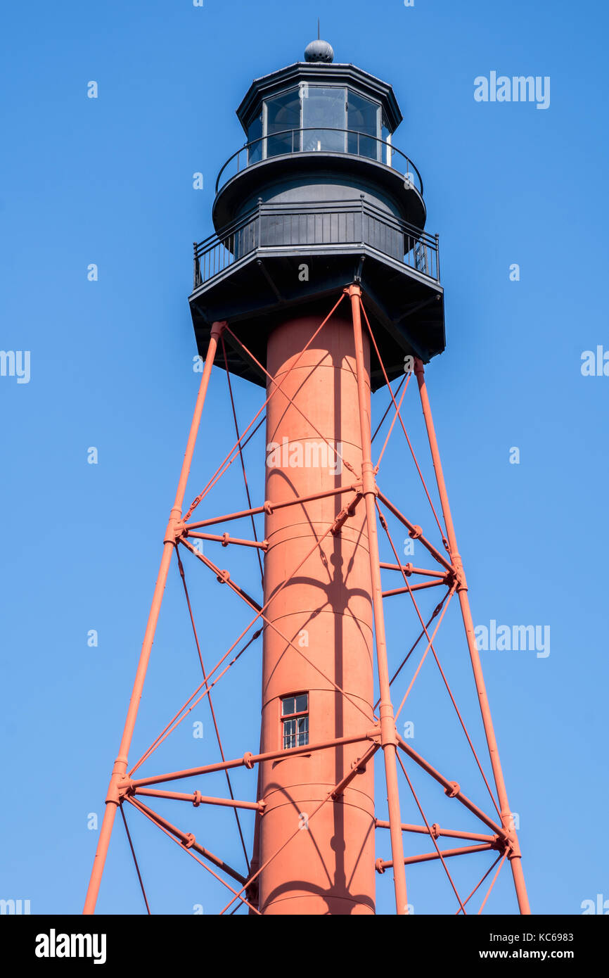 Crooked River Lighthouse, Carabelle, Florida - Stock Image