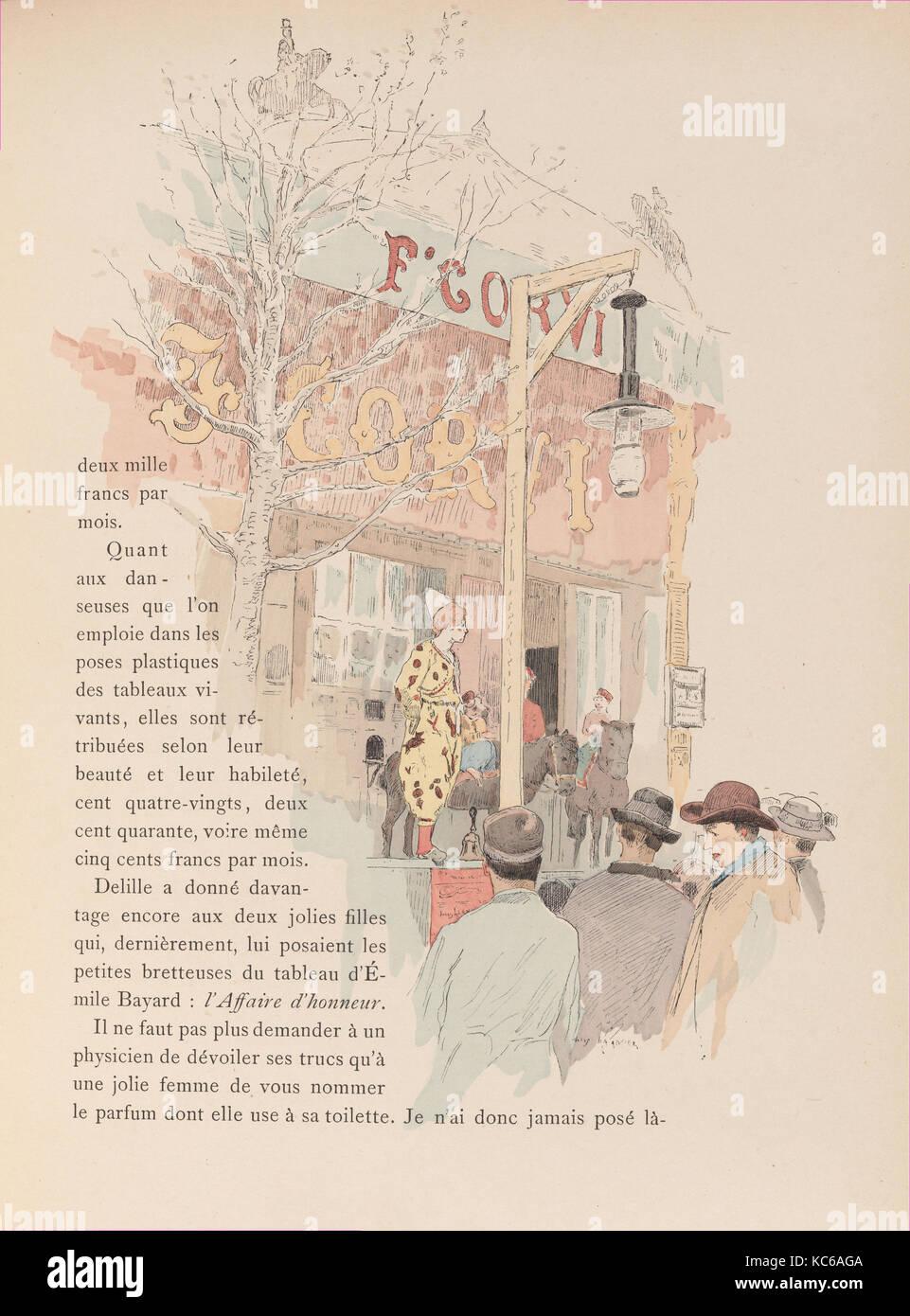 Les jeux du cirque et la vie foraine, 1889, Paris, France, v, 250 pages : illustrations(some color), color portraits - Stock Image
