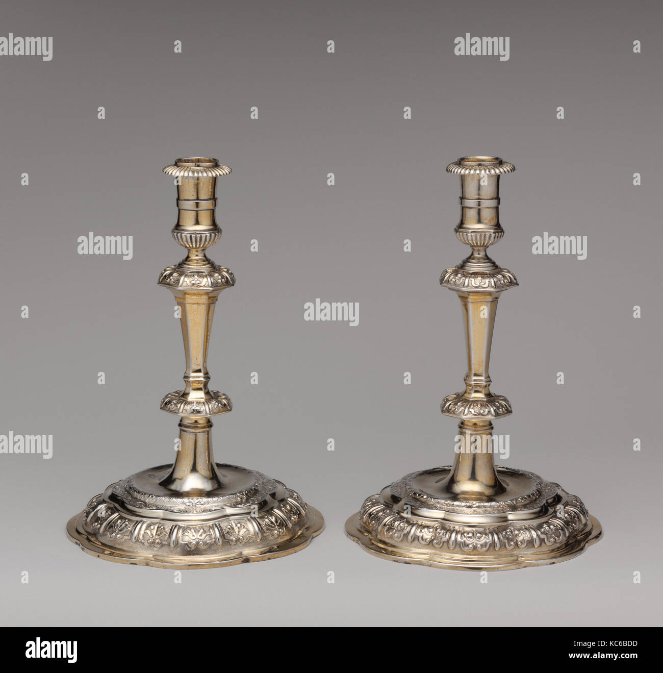 Candlestick (one of a pair), Master 'RW', ca. 1710–20 - Stock Image