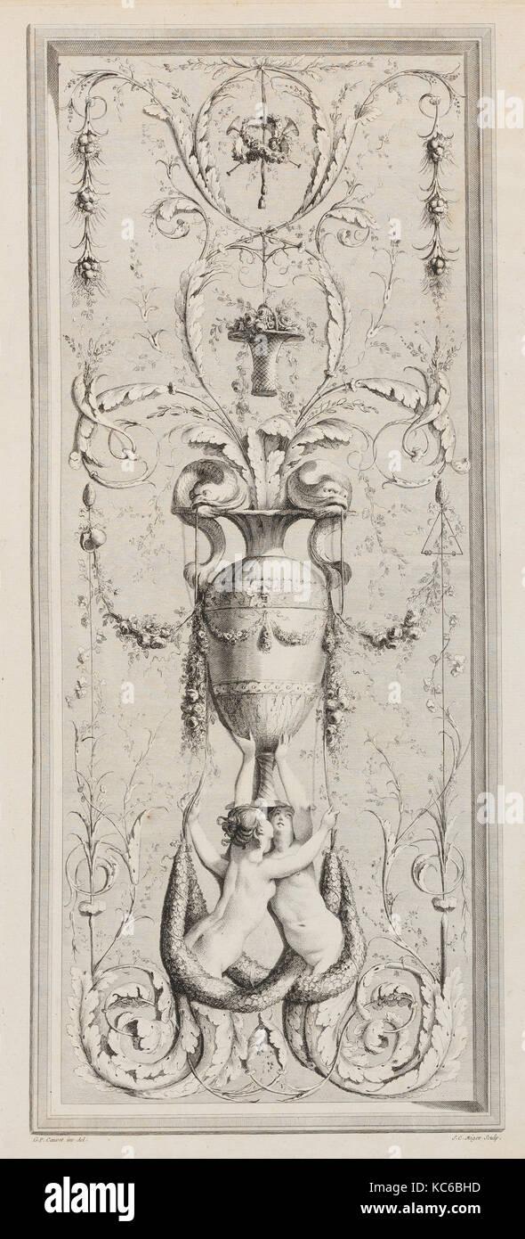 Recueil d'Ornemens A l'Usage des Jeunes Artistes qui se destinent à la décoration des bâtimens, 1777 Stock Photo