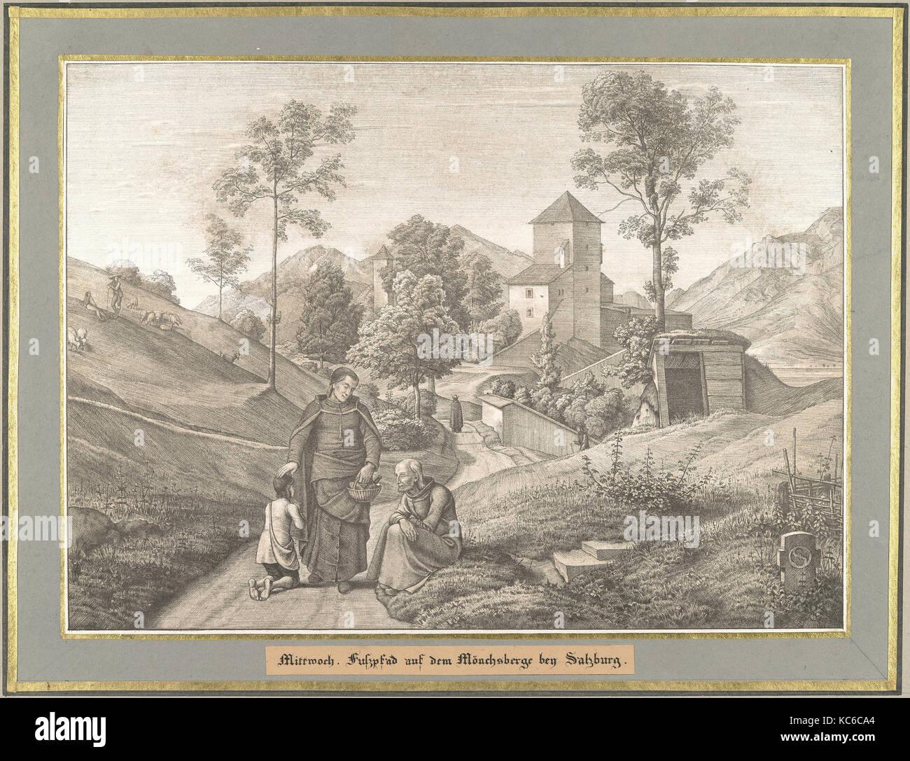 Mittwoch from Sieben Gegenden aus Salzburg und Berchtesgaden Geordnet nach den sieben Tagen der Woche - Stock Image