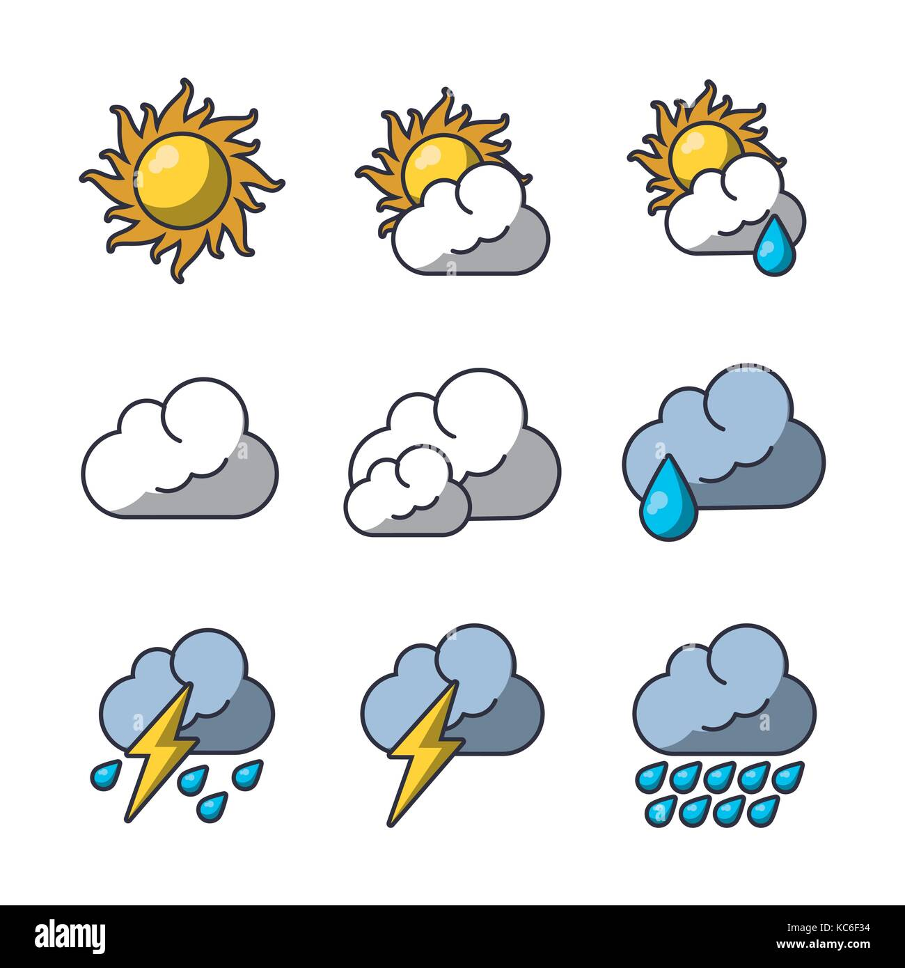 Weather Symbols Rain Stock Photos Weather Symbols Rain Stock