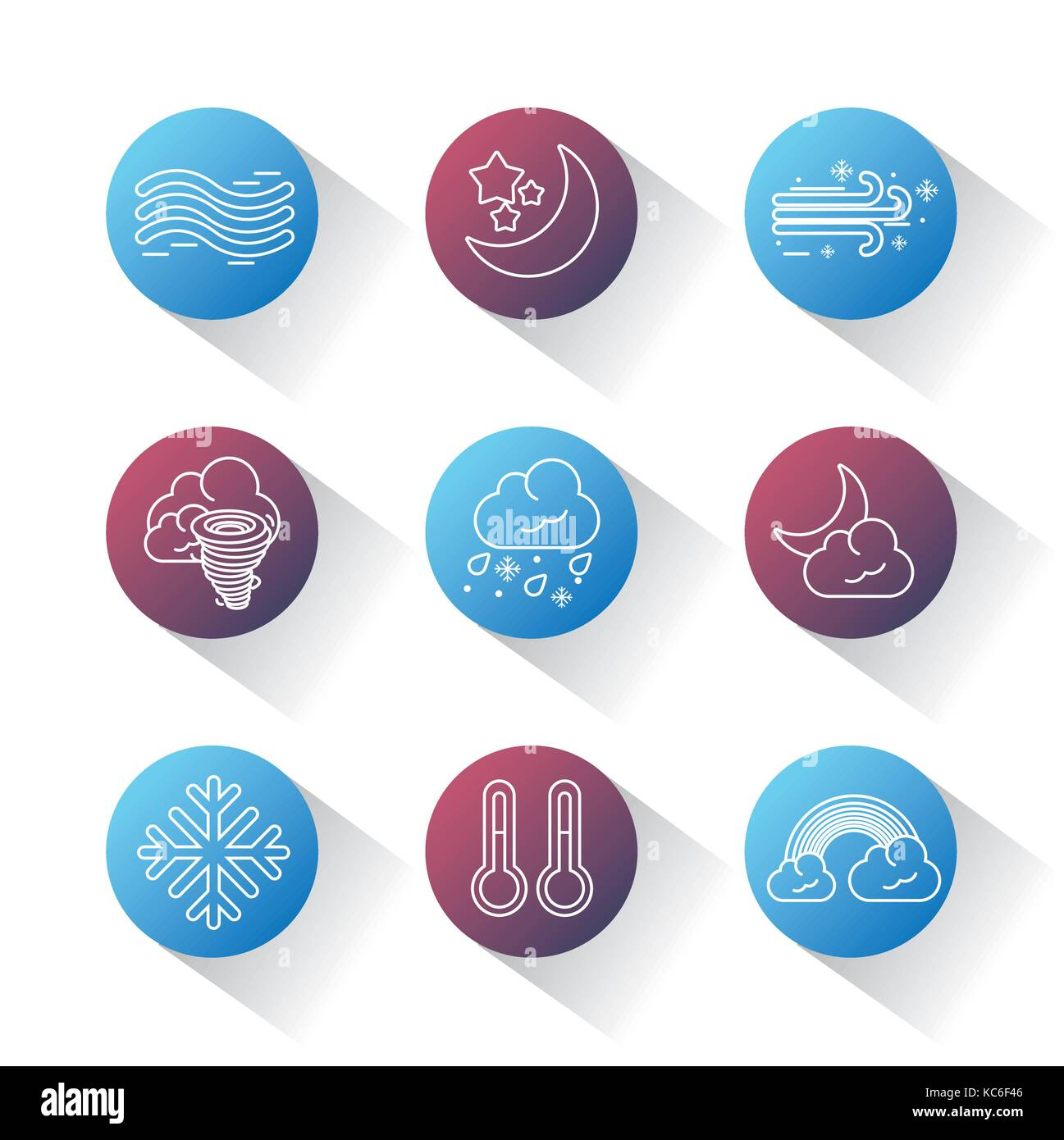Weather Forecast Symbols Cut Out Stock Images Pictures Alamy