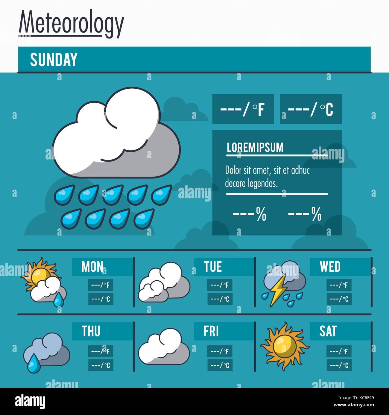 Meteorology infographic report - Stock Image