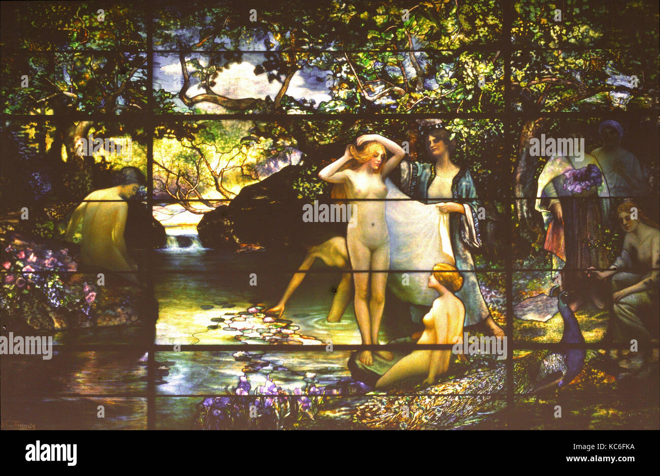The Bathers, ca. 1914, Made in New York, United States, American, Autochrome, Image: 4 3/4 x 7 1/2 in. (12.1 x 19.1 - Stock Image