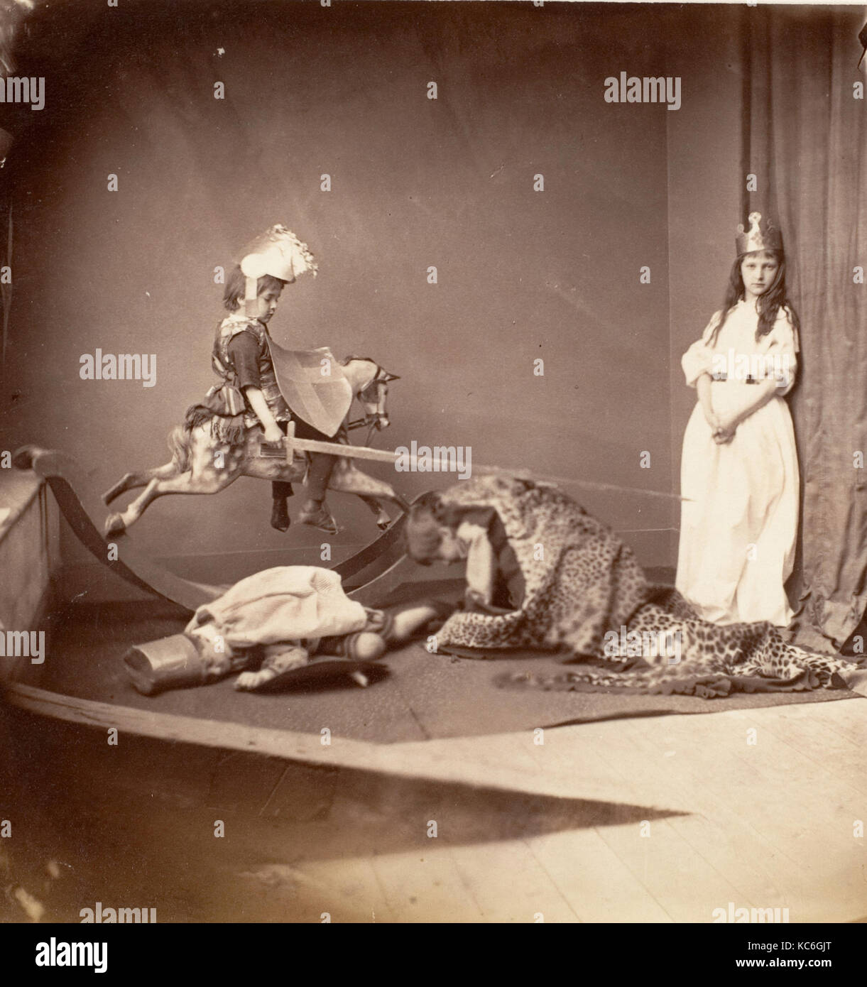St. George and the Dragon, Lewis Carroll, June 26, 1875 - Stock Image