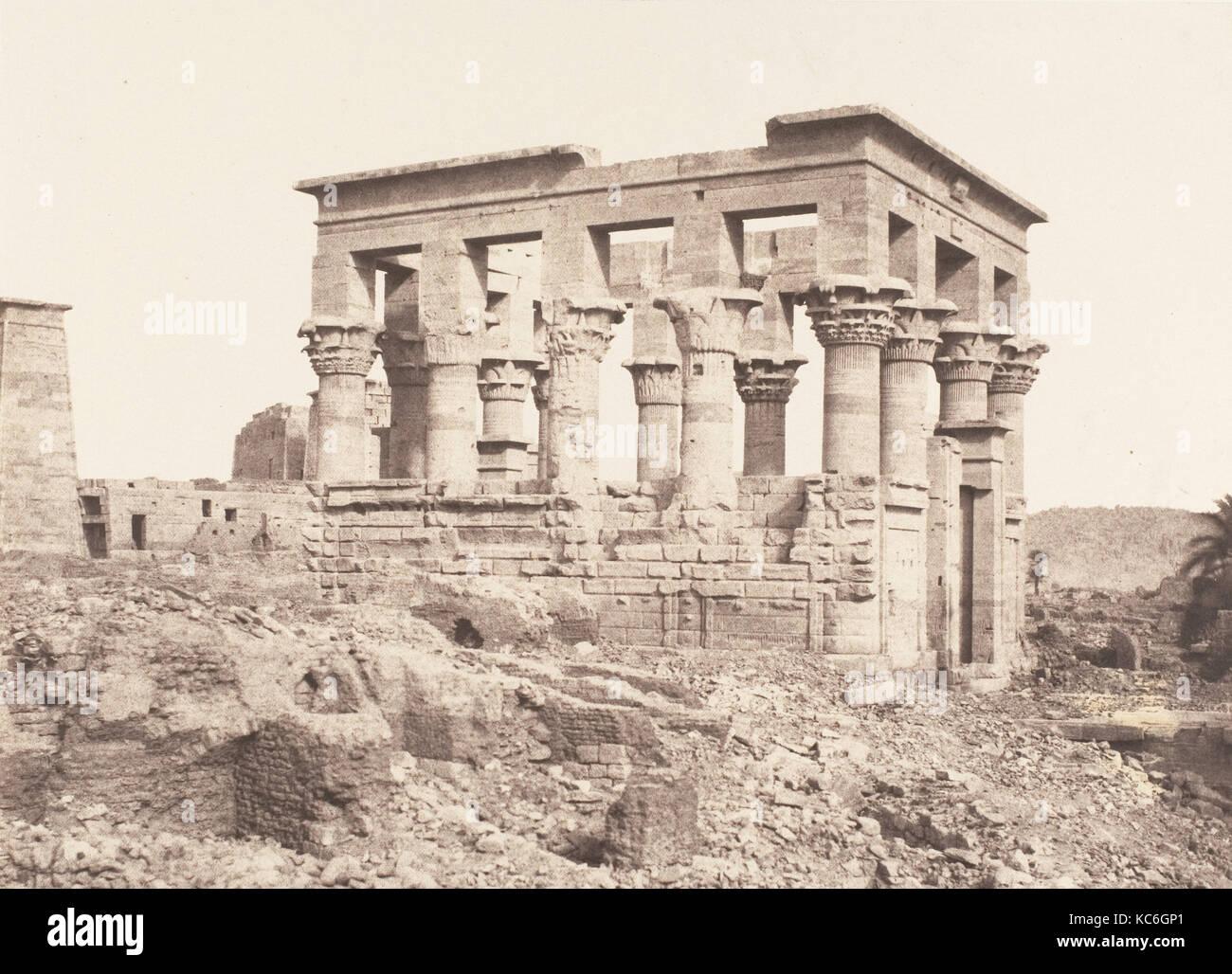 Ile de Fîleh (Philæ), Édifice de l'Est - Face Latérale Vue du Point D, Félix Teynard, - Stock Image