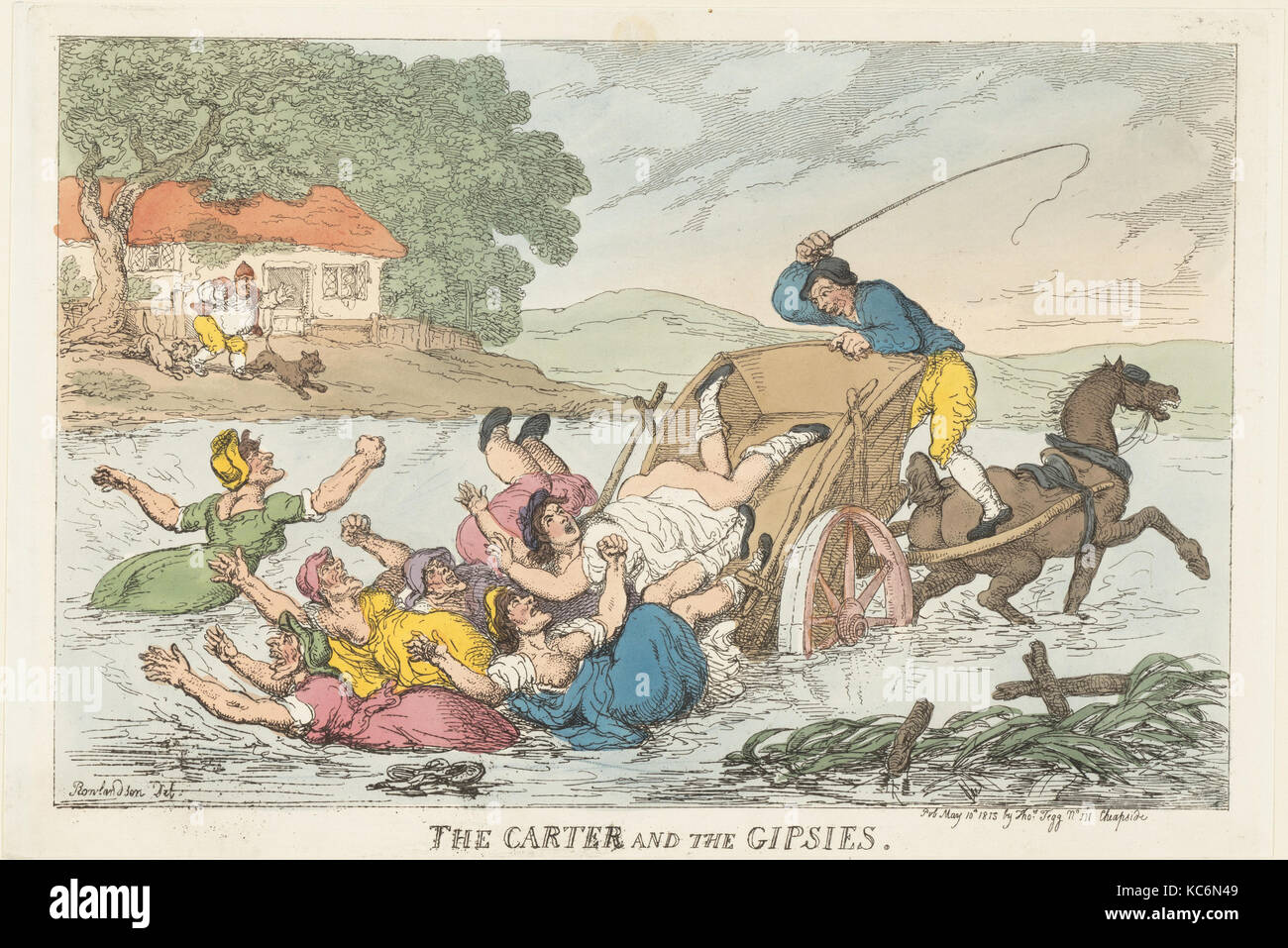 The Carter and the Gipsies, Thomas Rowlandson, May 10, 1815 - Stock Image