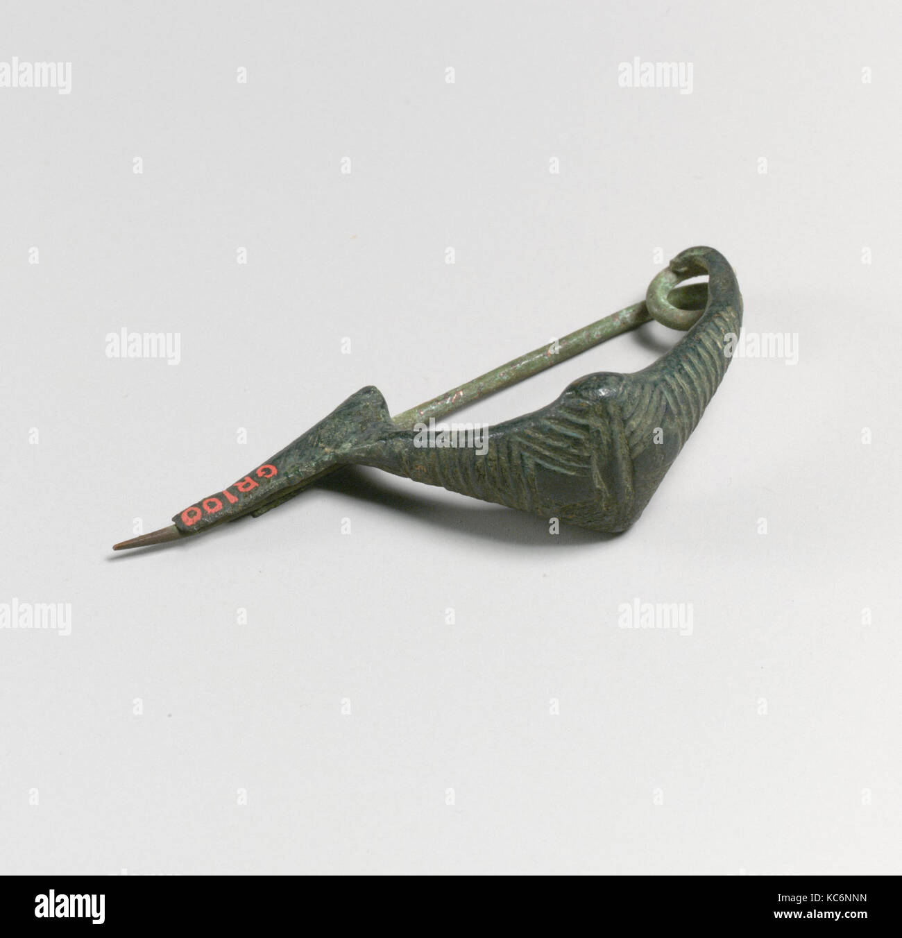 Fibula, boat-shaped type, Bronze, Other: 2 1/4 in. (5.7 cm), Bronzes Stock Photo