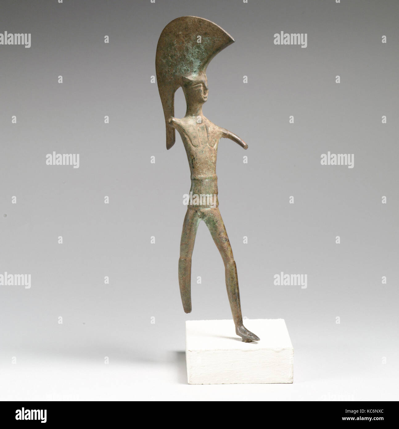 Statuette of Ares ?, Bronze, H.: 8 in. (20.3 cm), Bronzes - Stock Image