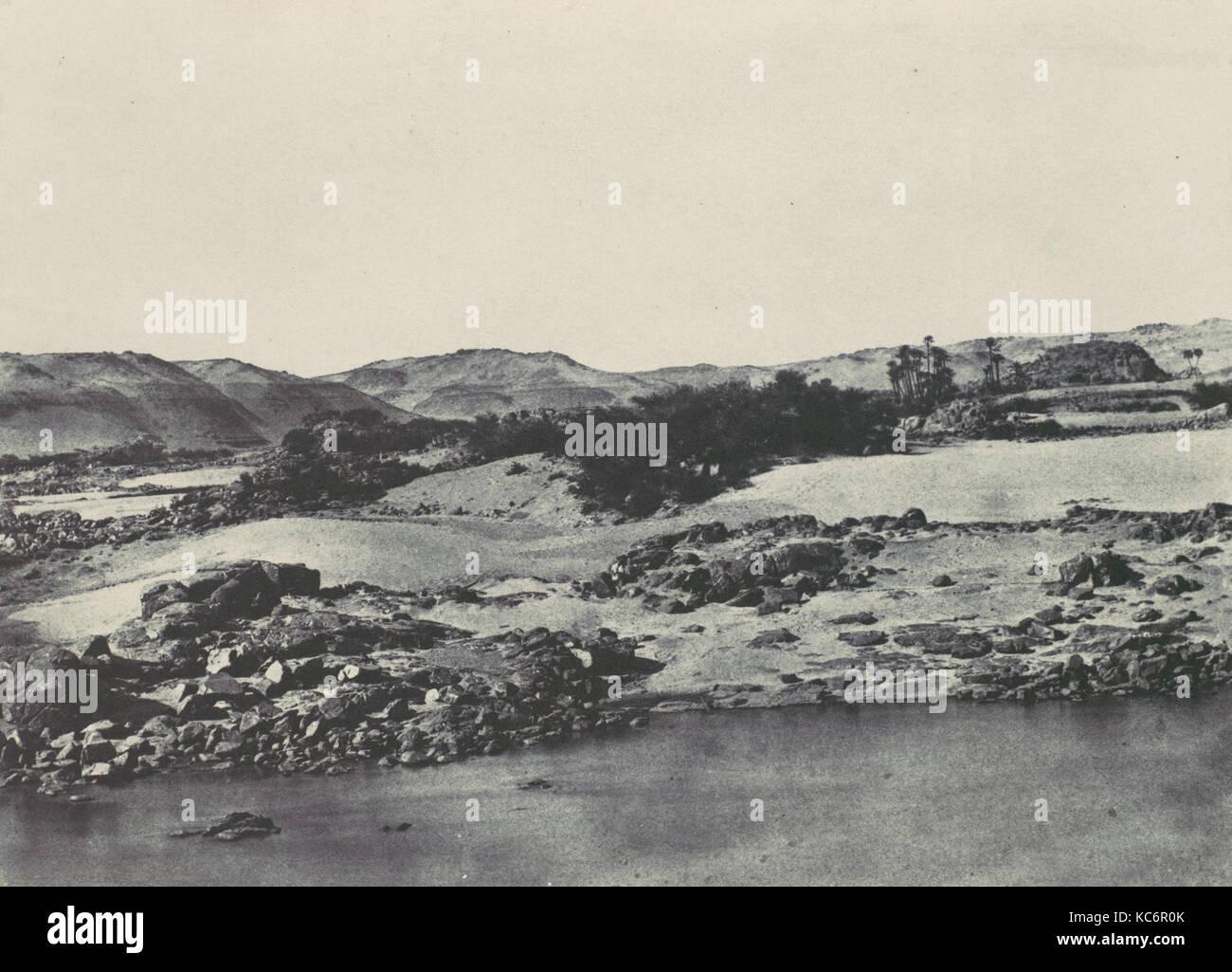 Haute-Égypte. Entrée de la première Cataracte, Maxime Du Camp, 1850 - Stock Image