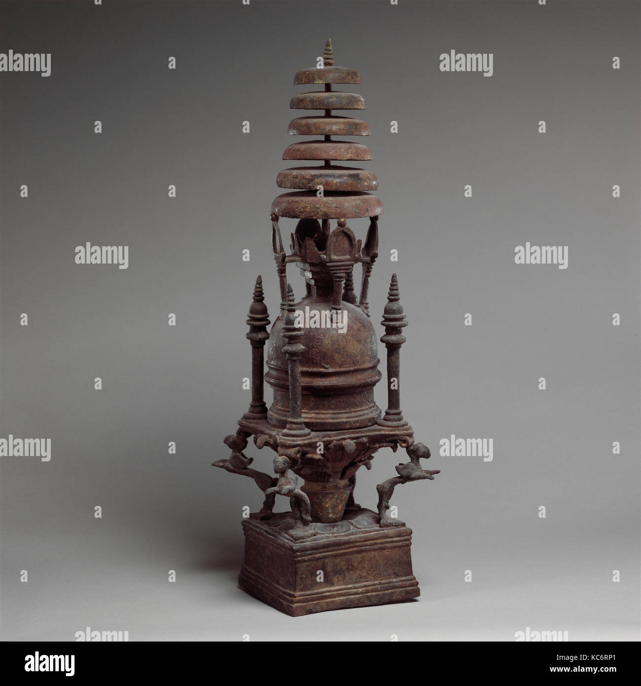 Reliquary in the Shape of a Stupa, ca. 4th–5th century - Stock Image