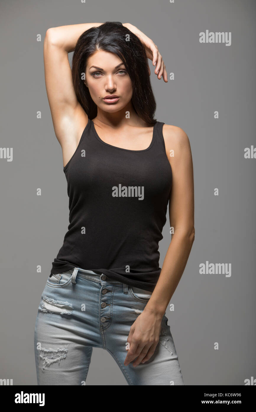 8f33495cce92e Grey Skinny Jeans Stock Photos   Grey Skinny Jeans Stock Images - Alamy