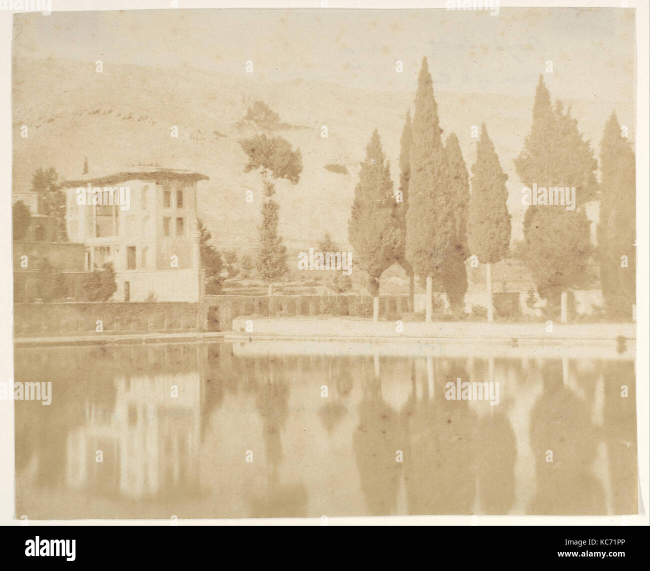 Bagh-takt a chiraz, 1858, Salted paper print from paper negative, Photographs, Luigi Pesce (Italian, 1818–1891 - Stock Image