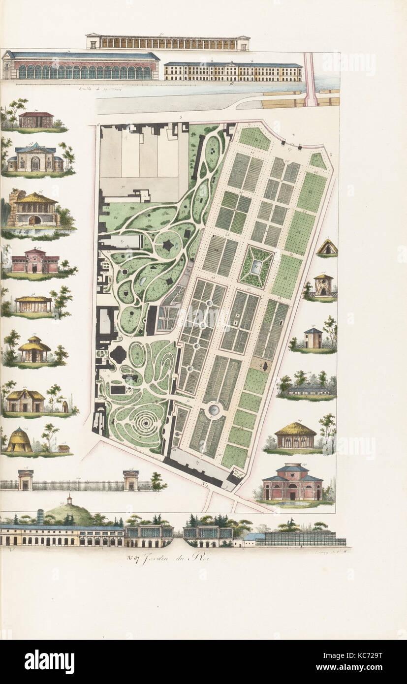 Plans Raisonnés de Toutes les Espèces de Jardins, 1820 - Stock Image
