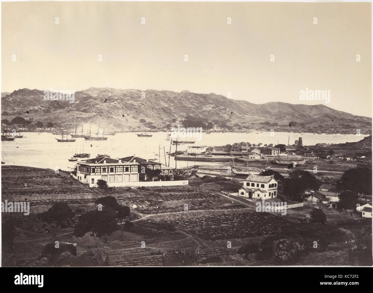 Lower Harbour, Amoy, Attributed to John Thomson, ca. 1869 - Stock Image