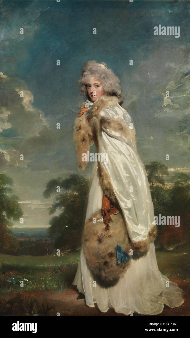 Elizabeth Farren (born about 1759, died 1829), Later Countess of Derby, Sir Thomas Lawrence, 1790 - Stock Image