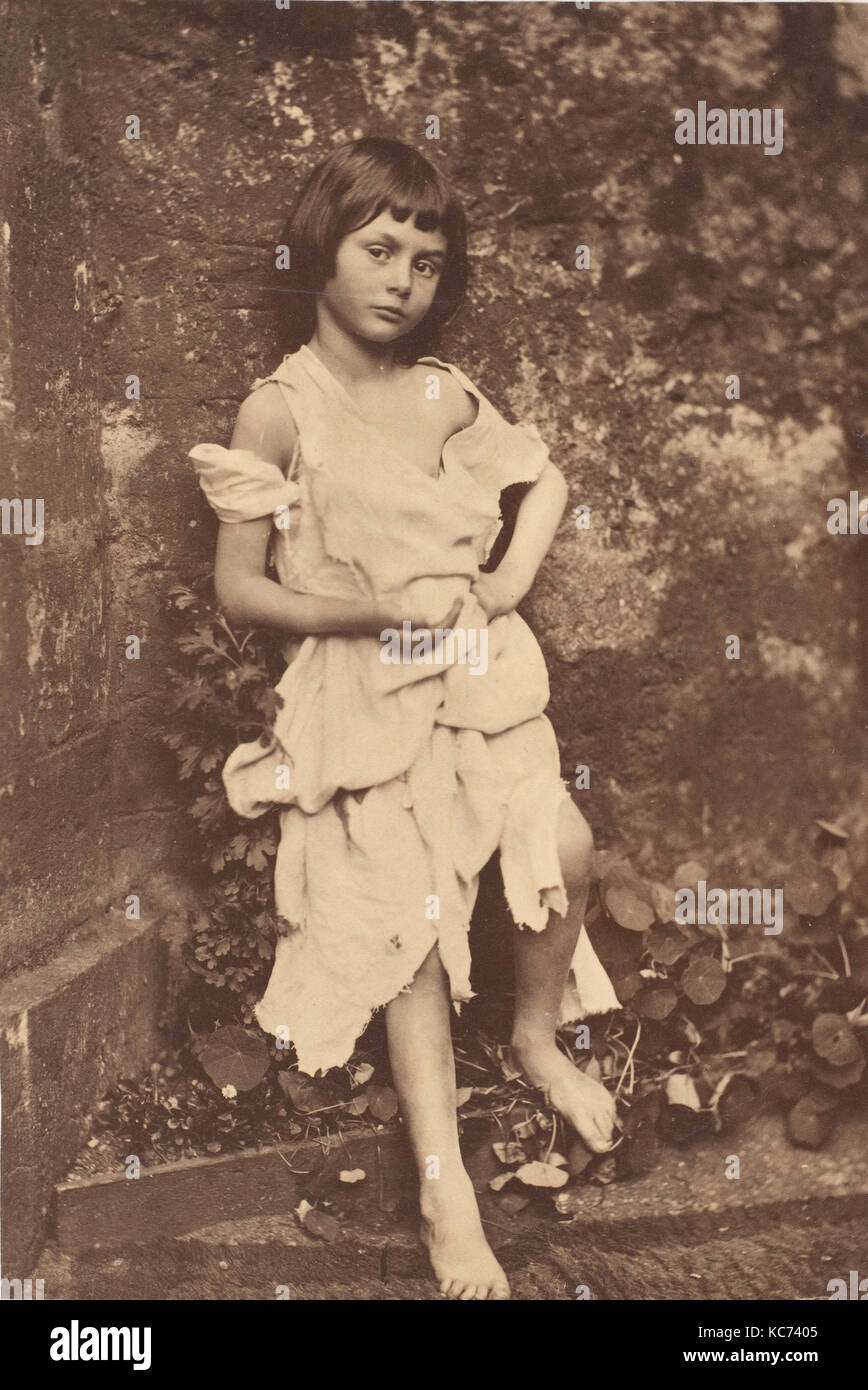 Alice Liddell as 'The Beggar Maid', Lewis Carroll, 1858 - Stock Image