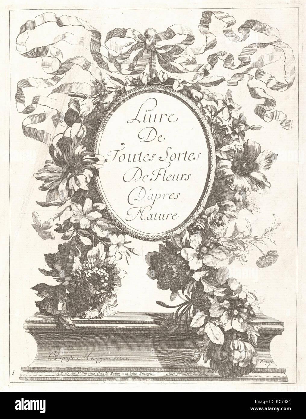 Livre de Toutes Sortes De Fleurs D'apres Nature, ca. 1670–80 - Stock Image