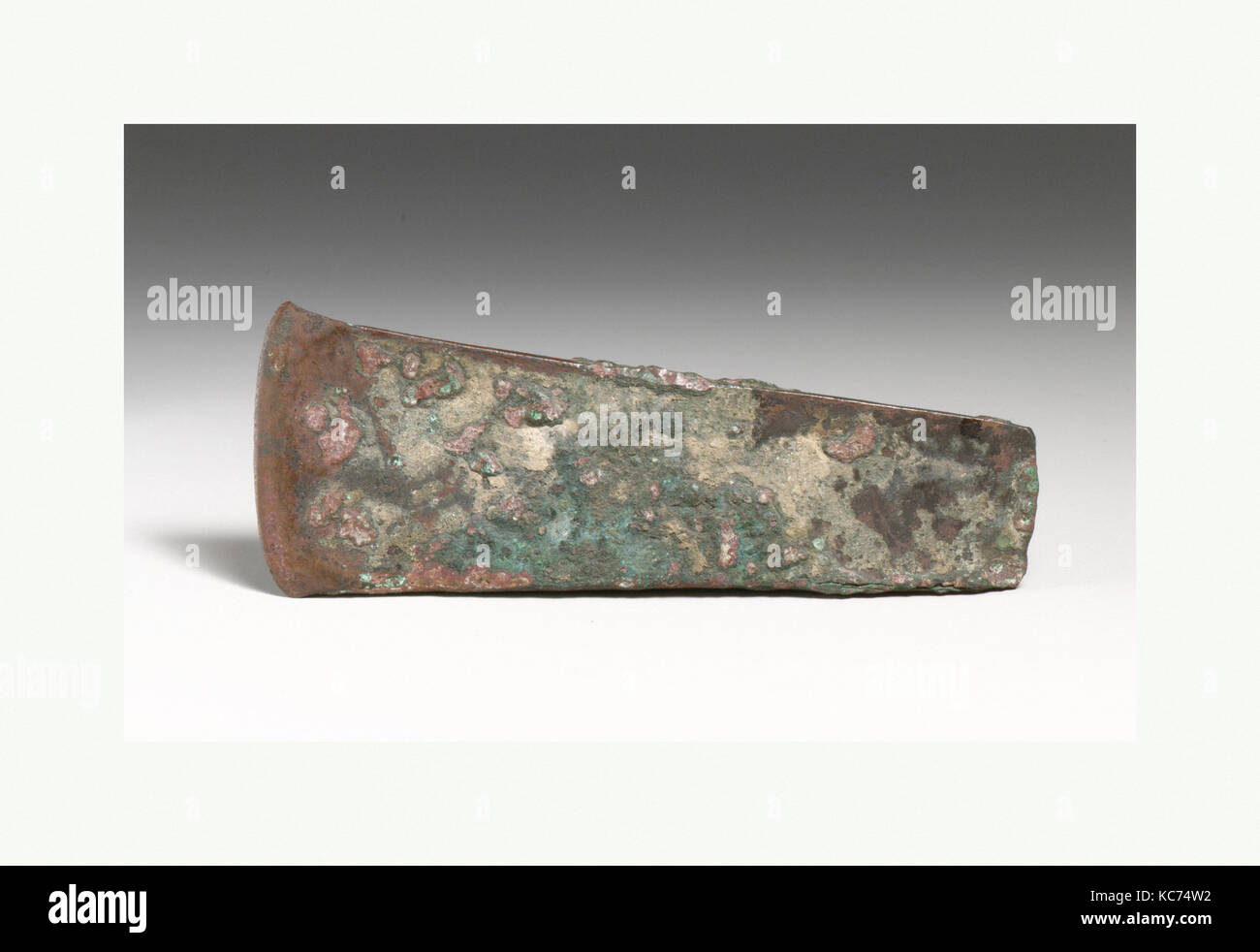 Bronze axe head, Early Bronze Age, ca. 2500–1900 B.C., Cypriot, Bronze, length 5 13/16in. (14.8cm), Bronzes, Cutting - Stock Image