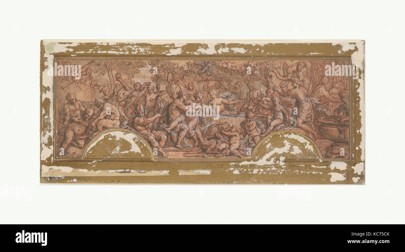 The Wedding Feast of Bacchus and Ariadne, Guy Louis Vernansal the Elder, ca. 1709 Stock Photo