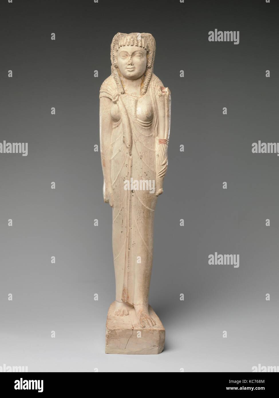 Statuette of Arsinoe II for her Posthumous Cult, ca. 150–100 B.C - Stock Image