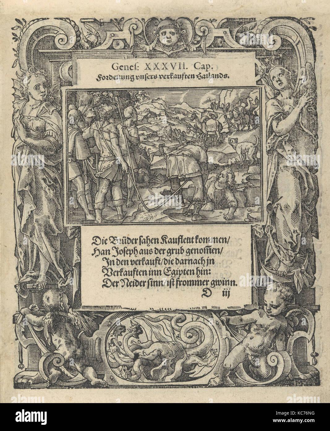 Neue Künstliche Figuren Biblischer Historien, Woodcuts by Tobias Stimmer, 1576 - Stock Image