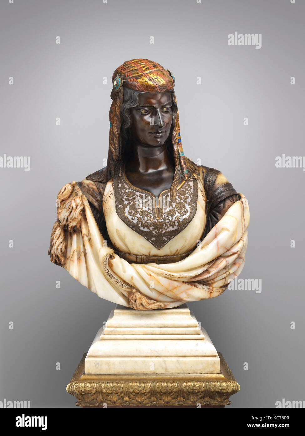 The Jewish Woman of Algiers, Charles-Henri-Joseph Cordier, 1862 - Stock Image