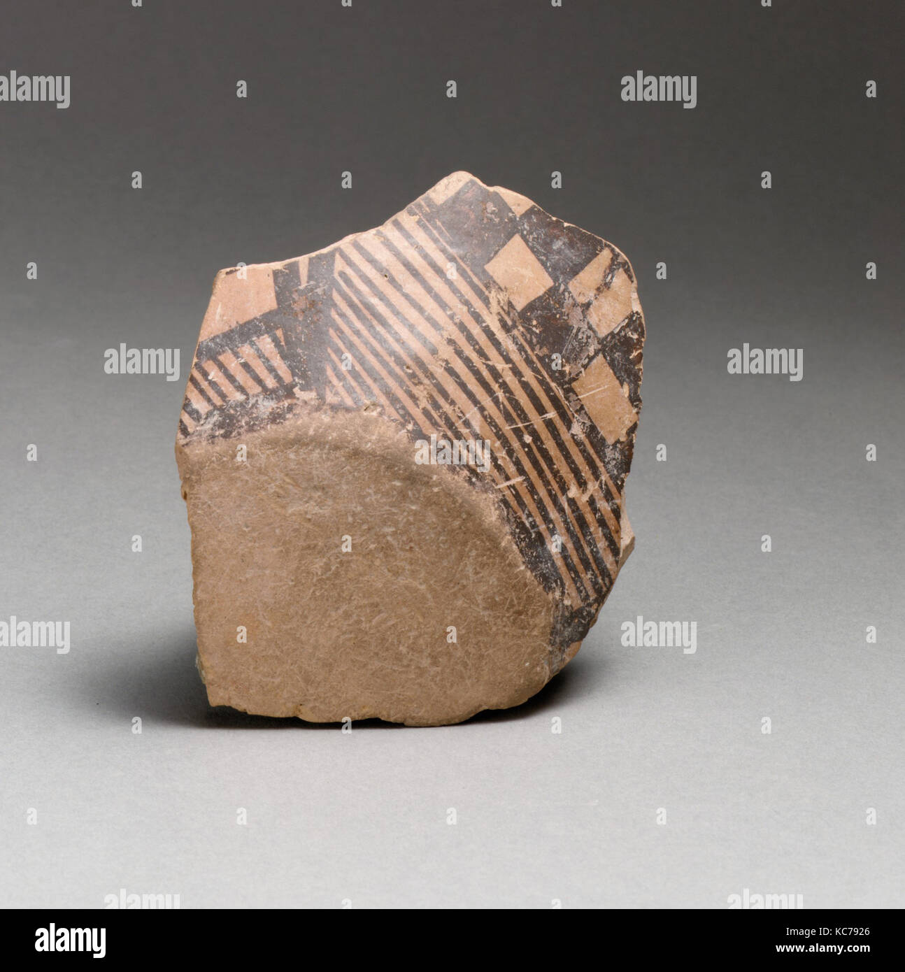 Terracotta base and lower body of a vessel, ca. 3800–3300 B.C - Stock Image