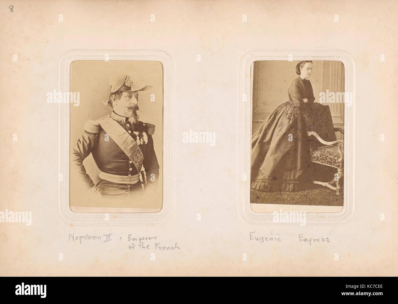 Carte-de-Visite Album of Prominent Personages, Mayer & Pierson, 1860s–70s - Stock Image