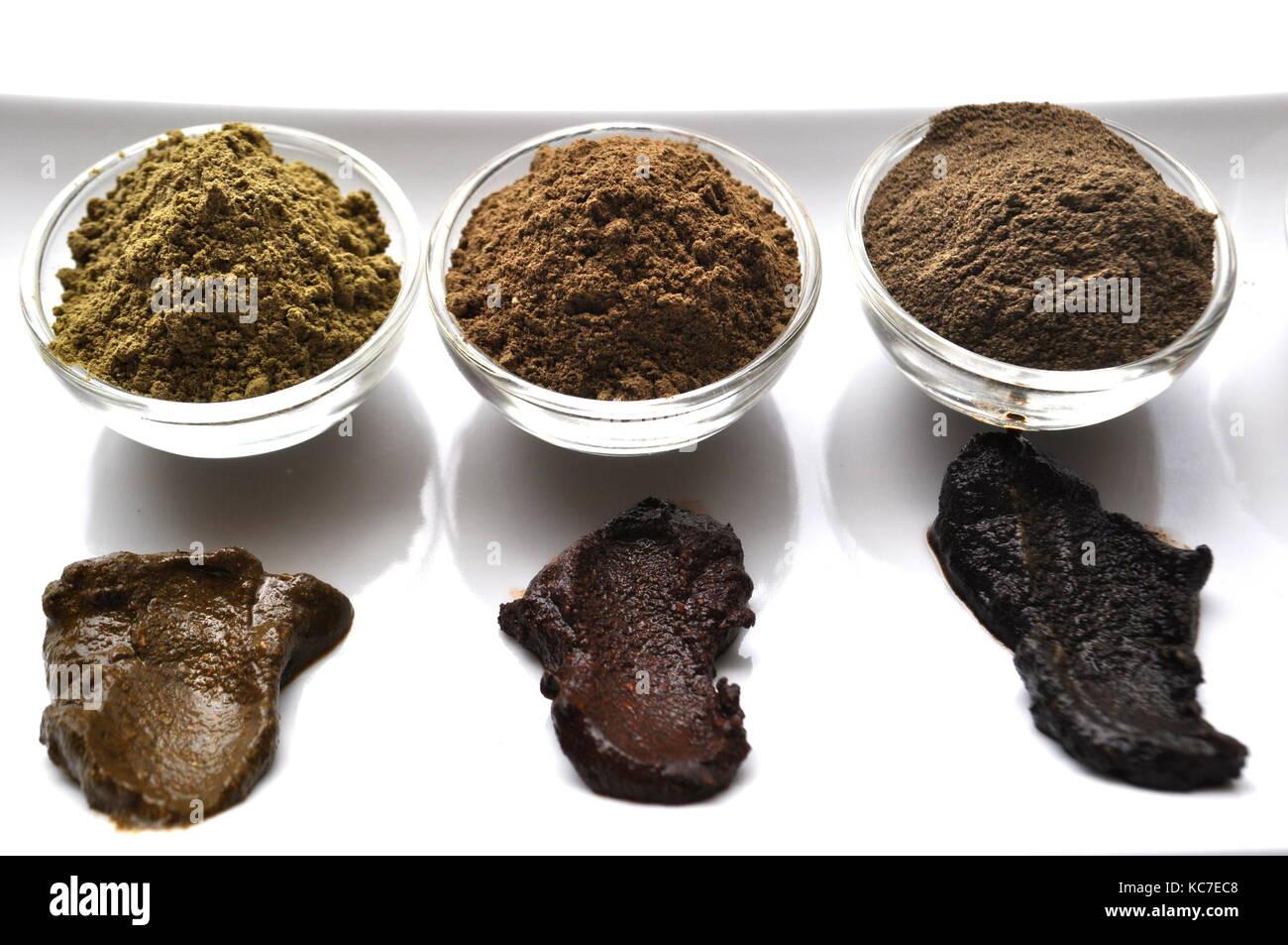 Henna Powder: A Close-up Of A Natural Henna Powder, A Natural, Plant