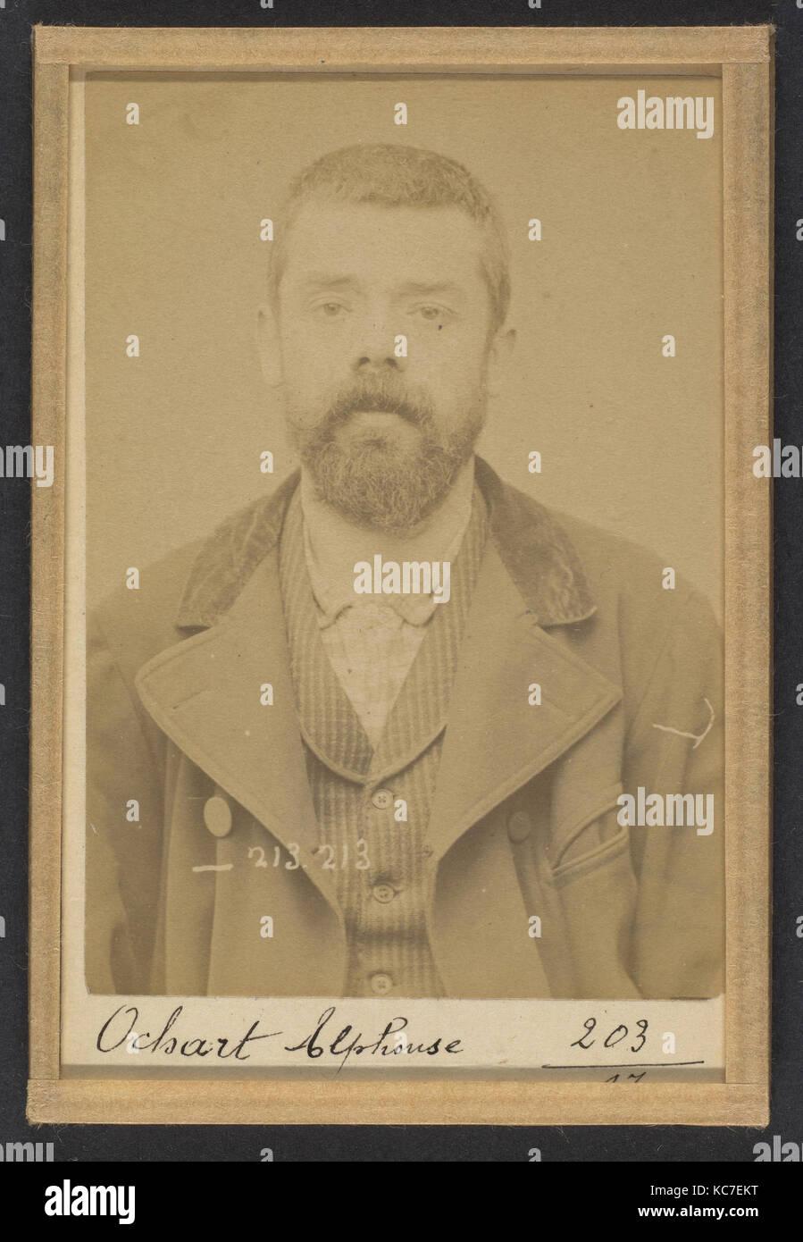 309. Ochart. Alphonse. 37 ans, né le 24/1/56 à Asbruch (Nord). Fabricant de chaussures. Anarchiste. 22/1/94 - Stock Image