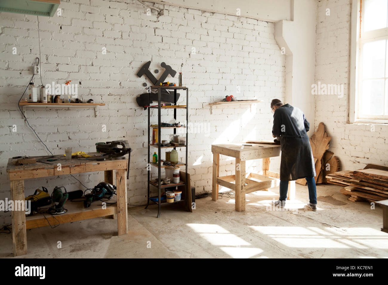 Brilliant Image Of Woodworking Workshop With Electric Instruments On Gmtry Best Dining Table And Chair Ideas Images Gmtryco