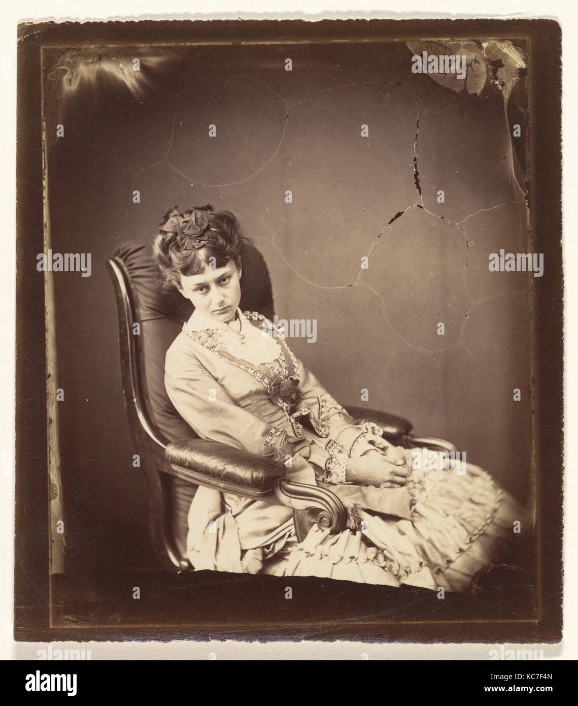 The Last Sitting, June 25, 1870, Albumen silver print from glass negative, Sheet: 6 1/4 × 5 9/16 in. (15.9 - Stock Image