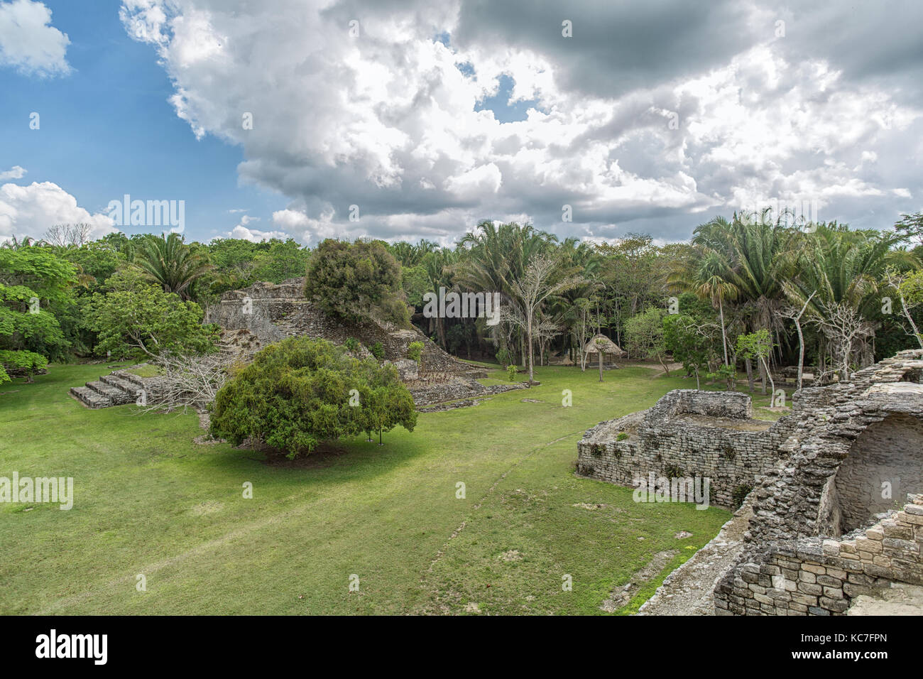 Kohunlich maya archaeological site in Quintana Roo Mexico - Stock Image