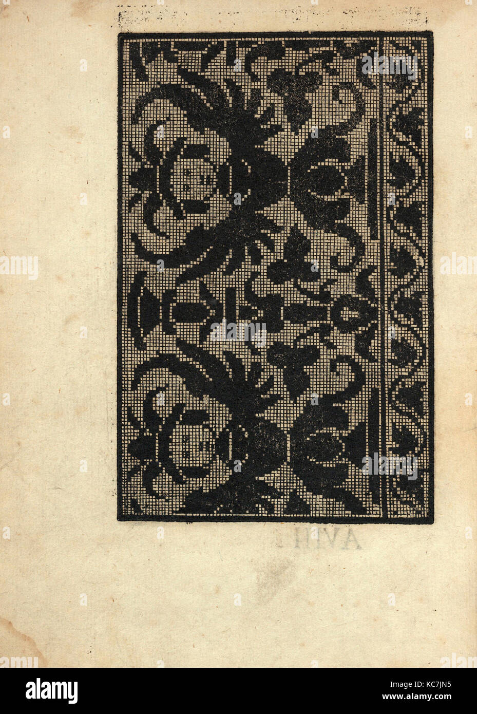 Esemplario di Lauori..., page 5 (verso), August 1, 1532 Stock Photo