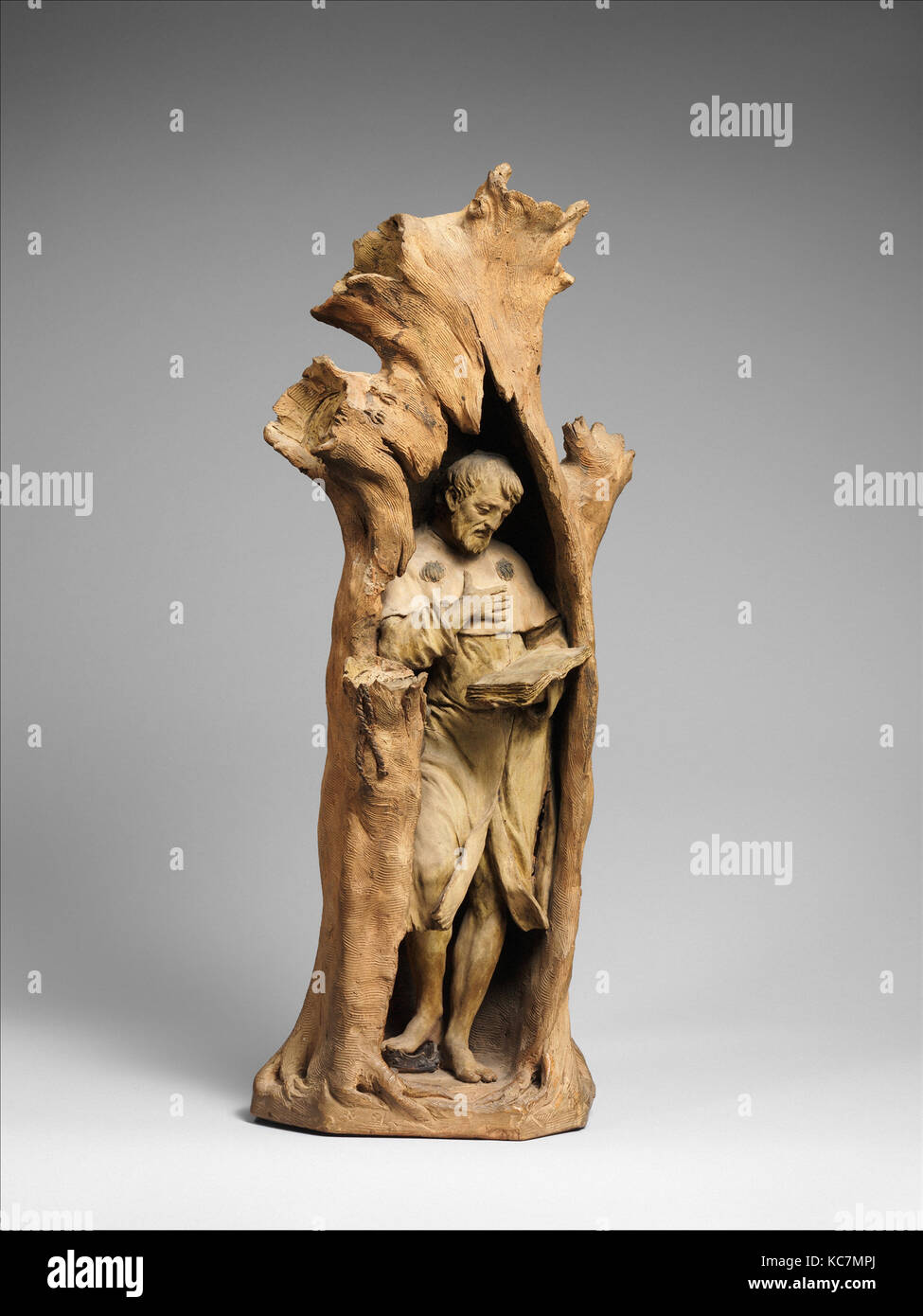 Emperor Henry IV at Canossa, ca. 1770–75, Italian, Bologna, Terracotta, Overall (confirmed): H. 23 7/8 x W. 9 1/4 - Stock Image
