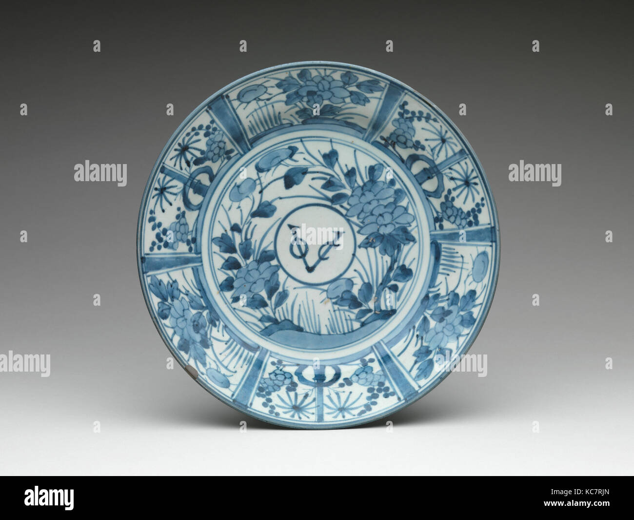 Plate with Monogram of the Dutch East India Company, ca. 1660 - Stock Image