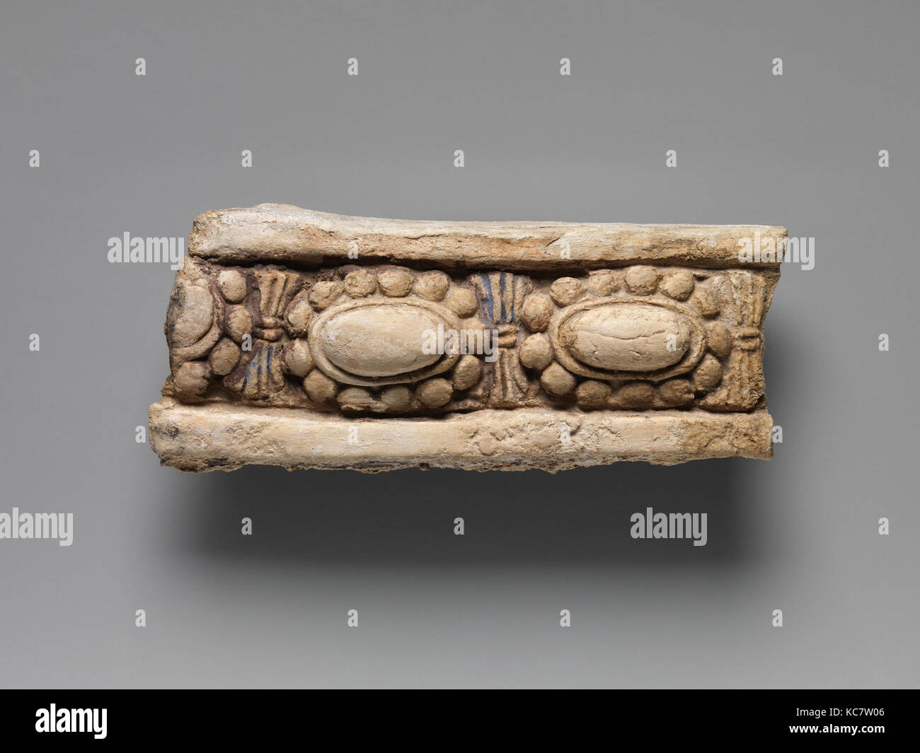 Border with Lozenges set within a Pearl Rondel, 6th–7th century - Stock Image