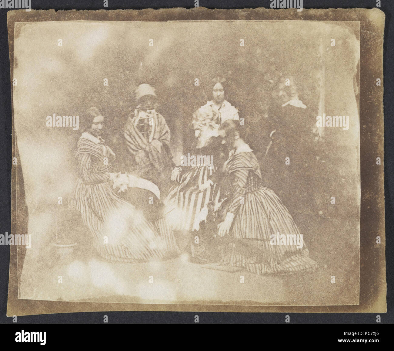 34. Artistical Groups in Various Poses, Calvert Richard Jones, ca. 1845 - Stock Image