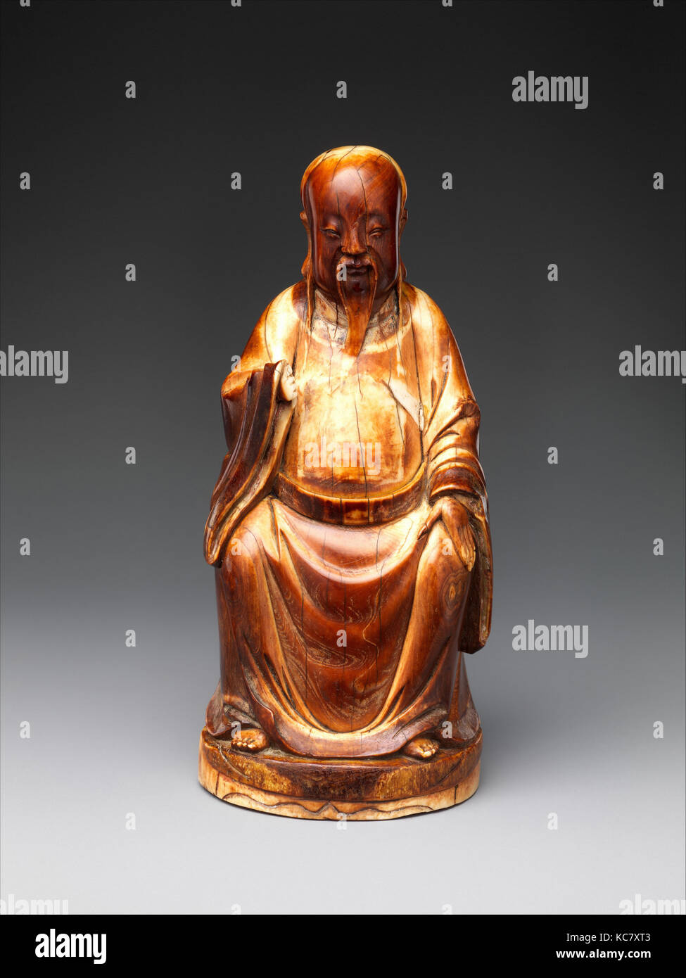 Wenchang, Stellar God of Literature, Ming dynasty (1368–1644), 16th century, China, Ivory, H. 5 13/16 in. (14.8 Stock Photo