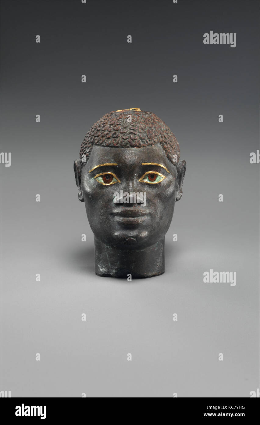Head of an 'Ethiopian' depicted in Hellenistic mode, 332–30 B.C - Stock Image