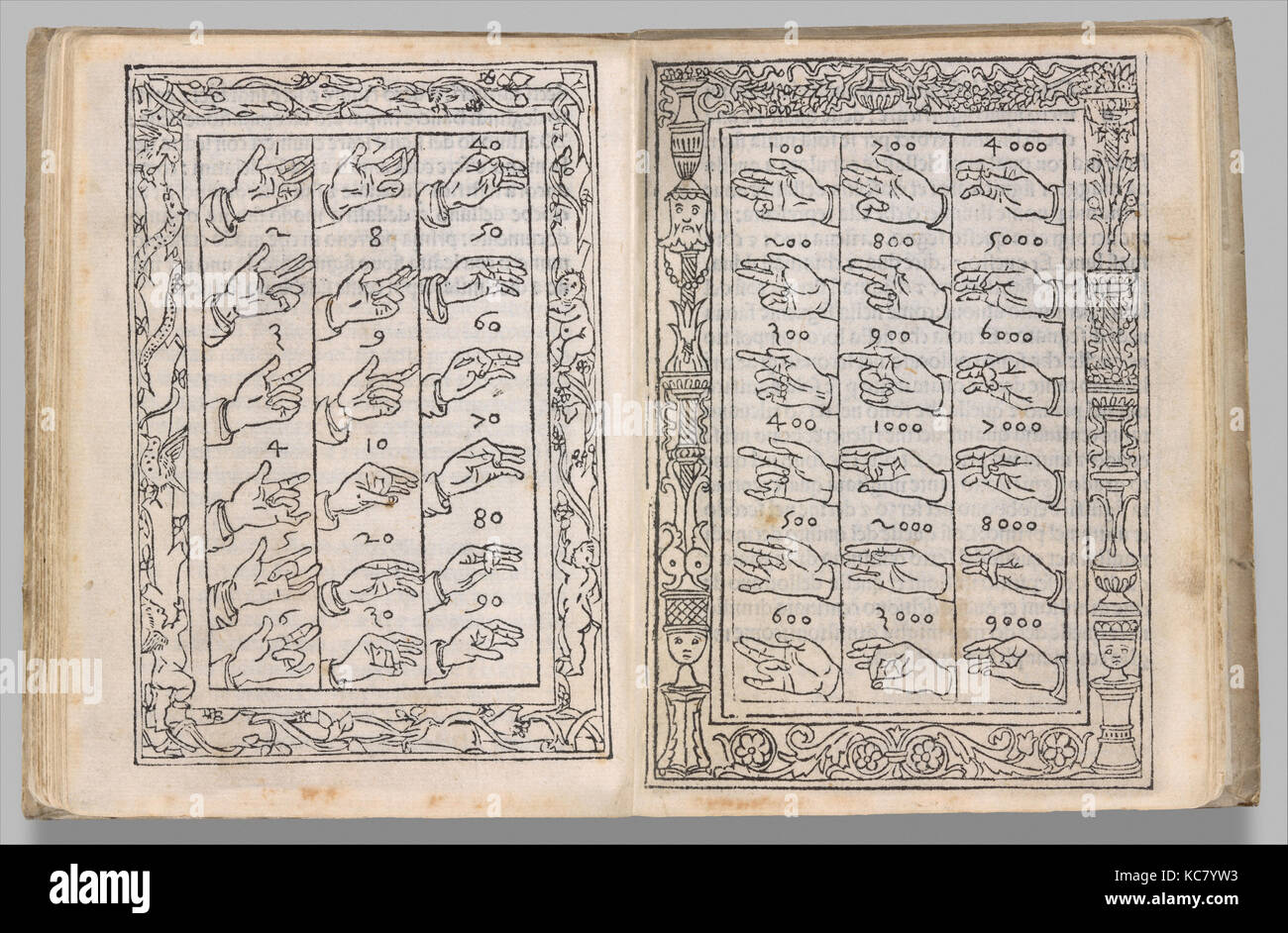 De Arithmetica, January 1, 1491, Printed book with woodcut illustrations, Overall: 5 5/16 x 4 5/16 x 13/16 in. (13.5 - Stock Image