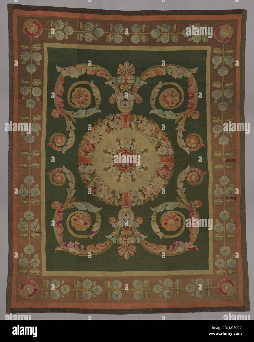 Carpet, 1814–30, French, Aubusson, 122 × 97 in. (