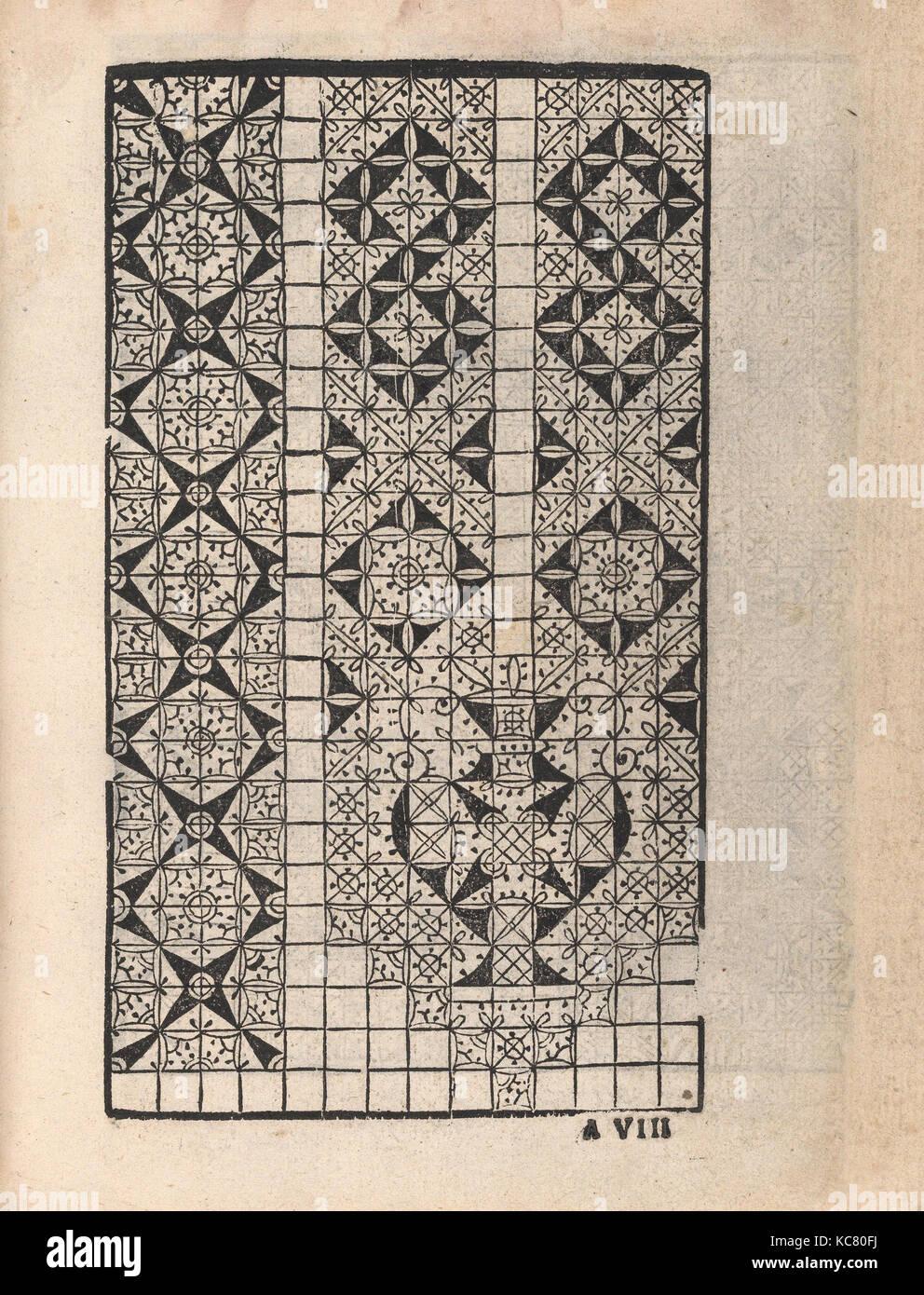 Ornamento delle belle & virtuose donne, page 5 (recto), 1554 Stock Photo