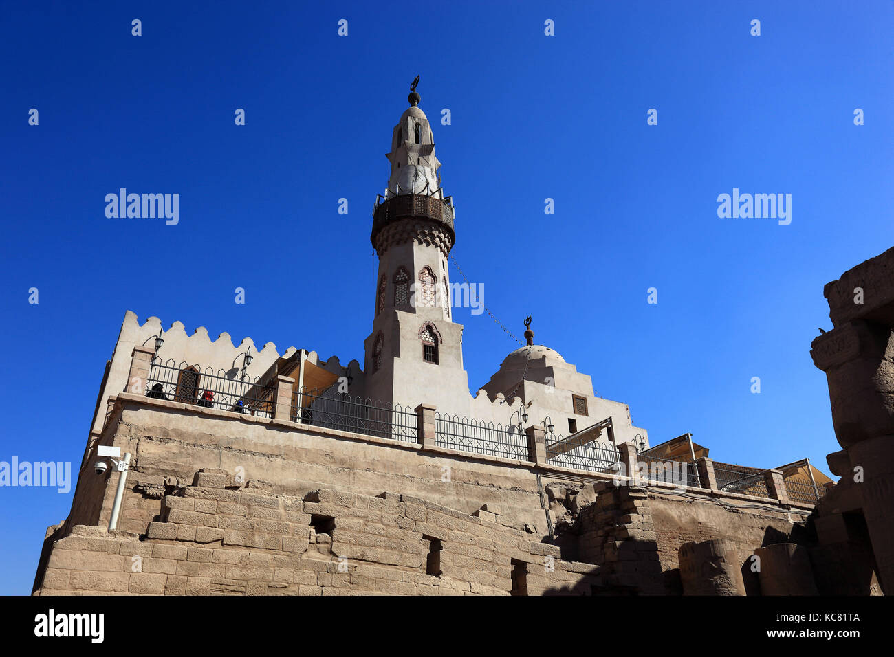 Luxor Temple Mosque of Abu el-Haggag, Africa, Upper Egypt, UNESCO World-heritage Stock Photo