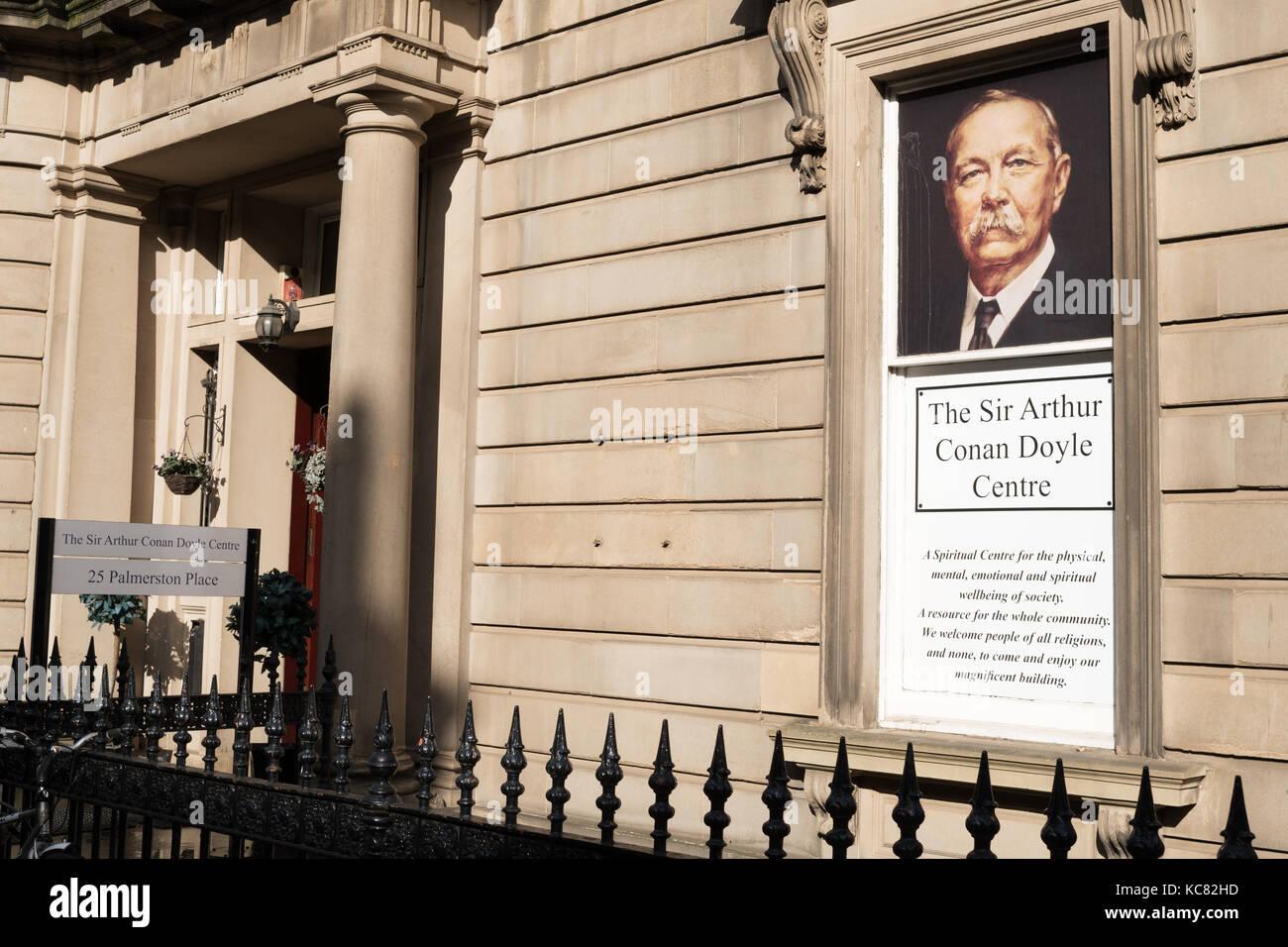 The Sir Arthur Conan Doyle Centre, and Edinburgh Association of Spiritualists,  Edinburgh, Scotland, UK - Stock Image